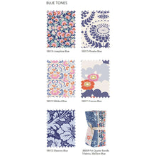 Load image into Gallery viewer, Lazy Days Tilda Fabric by the fat quarter: Eleanor, Francis, Josephine, Mildred, Phoebe. blue.