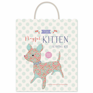 Lazy Days: Tilda playful kitten/cat sewing pattern mini kit, craft kit or gift