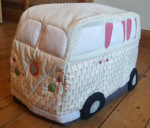 Load image into Gallery viewer, Campervan Fabric Sewing Machine Cover Pattern: PDF download. Vintage style.