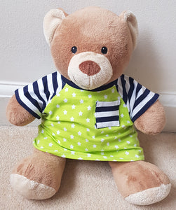 Teddy Bear Tee T-shirt/T-shirt dress clothes sewing pattern instant download PDF Instructions: for build a bear/15 inch bear