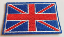 Load image into Gallery viewer, Union Jack/British flag motif iron on or sew on patch. Appliqué patches.