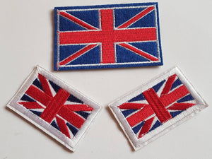 Union Jack/British flag motif iron on or sew on patch. Appliqué patches.