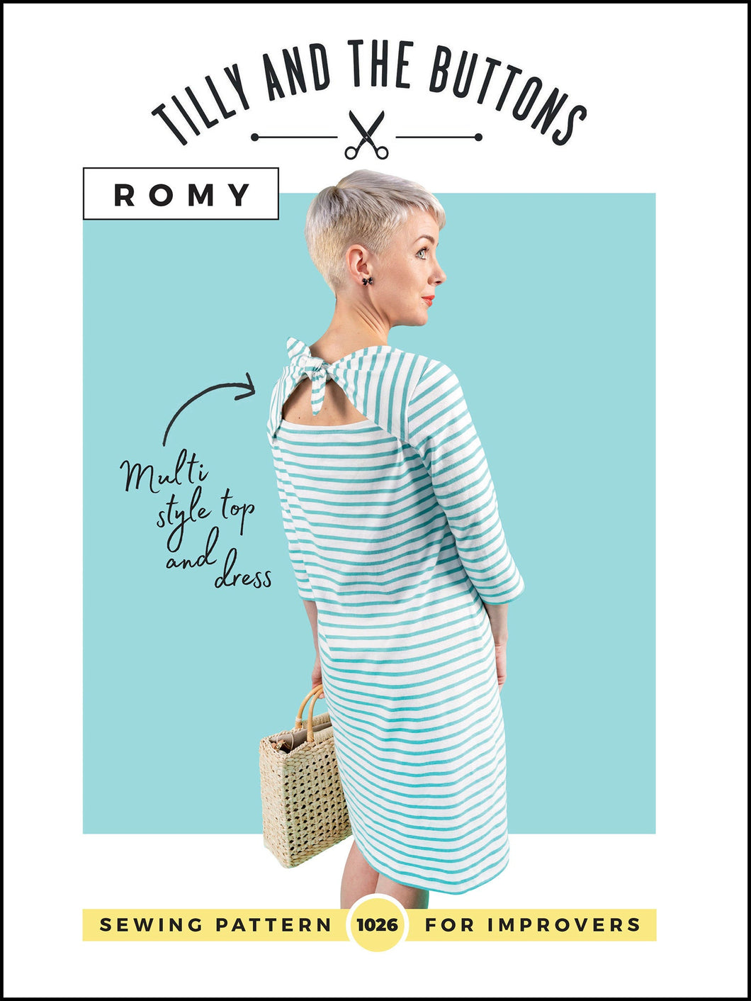 Tilly and the Buttons Romy Top and Dress sewing pattern. Easy to follow.