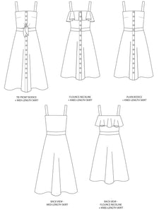 Tilly and the Buttons Seren summer sun dress sewing pattern. Easy casual dress pattern.