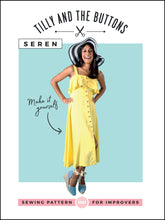 将图片加载到图库查看器,Tilly and the Buttons Seren summer sun dress sewing pattern. Easy casual dress pattern.