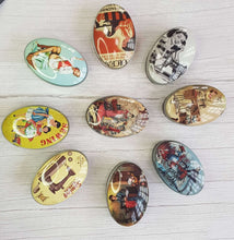 Load image into Gallery viewer, Vintage tin for small crafts and sewing storage. Great stocking filler or sewing gift.