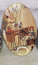 Laden Sie das Bild in den Galerie-Viewer, Vintage tin for small crafts and sewing storage. Great stocking filler or sewing gift.