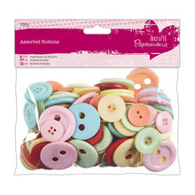 Load image into Gallery viewer, Papermania Vintage assorted buttons (250 g). Various sizes bulk pack. Crafts, dressmaking.