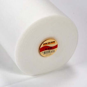 H630 Iron on White Low Loft Fusible Fleece Batting Wadding, lightweight. 90 cm wide.