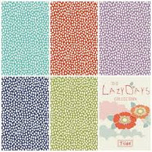 Load image into Gallery viewer, Lazy Days Trickles by the Fat quarter - coral, teal, lilac, blue, green; fabric by Tilda.
