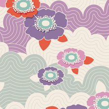 将图片加载到图库查看器,Lazy Days Tilda Fabric by the Fat Quarter: Eleanor, Francis, Josephine, Mildred, Phoebe. Lilac