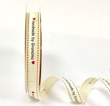 Load image into Gallery viewer, Handmade/made with Love /Union Jack 16mm grosgrain ribbon by Bertie's Bows. 3m reel.