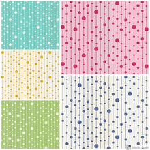 Load image into Gallery viewer, Tilda Apple Butter Pearls cotton fabric by the Fat quarter: yellow, green, teal, blue, pink.