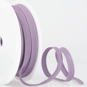 Flanged 10mm wide piping cord 2 mm 100% Cotton bias binding cut - Per Metre