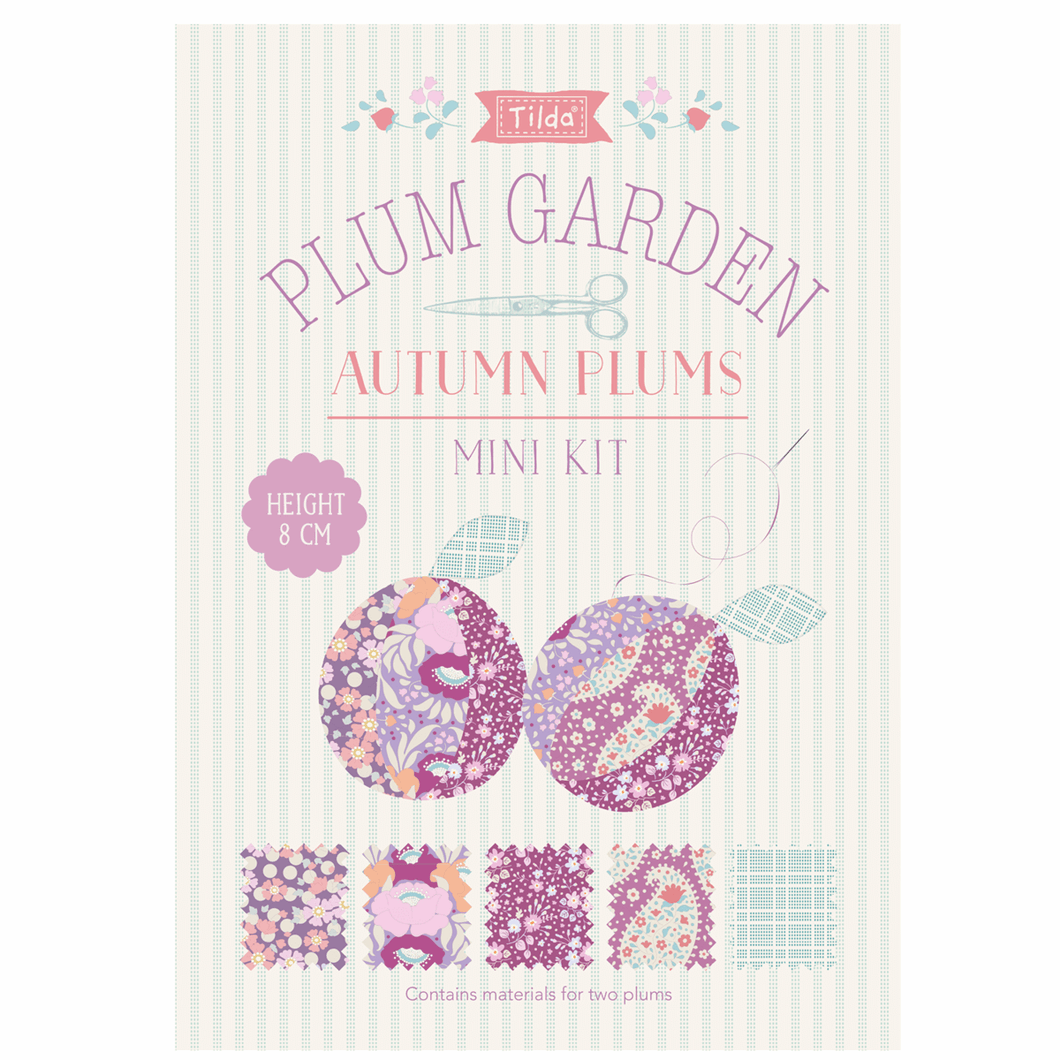 Plum Garden: Mini Kit: Autumn Plums: 8cm: sewing, craft kit
