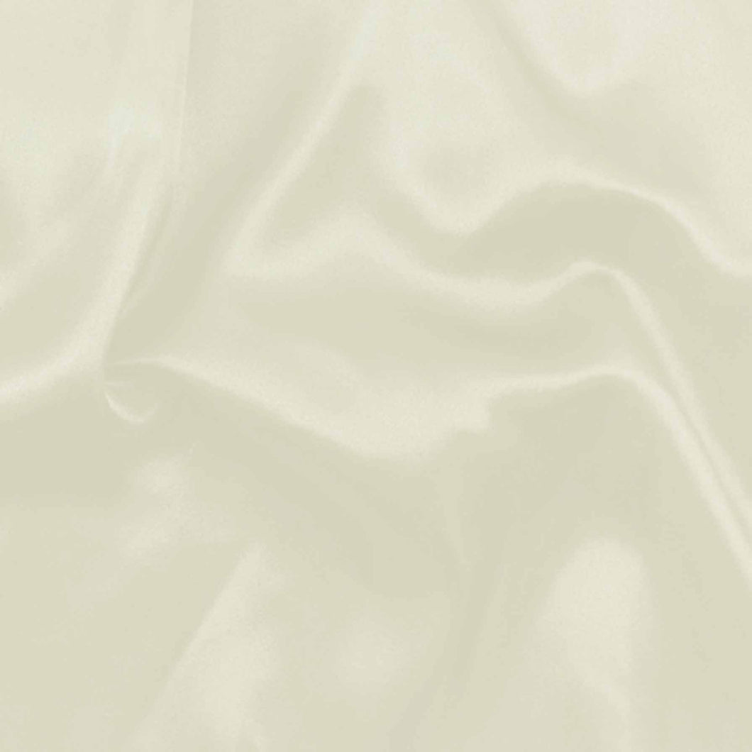 Silky Habutae Lining Fabric: cream, black. Dressmaking. 100% polyester, 110 cm wide. By the half metre.