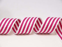 Load image into Gallery viewer, Bertie's bows 38mm striped, rainbow bag strapping/webbing: various colours. Per metre.