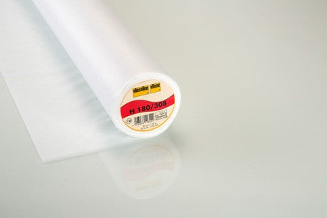 Light Weight fusible Interfacing White: Vilene H180/308 iron on non-woven 90cm wide. By the half metre.