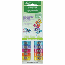 Load image into Gallery viewer, Wonder Clips Assortment by Clover (Pack of 10) for sewing, overlocking and crafting.