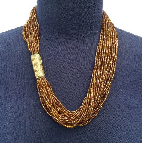 Side bronze necklace
