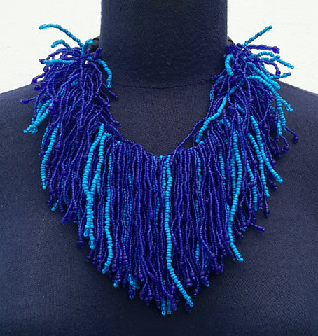 Hairy collar necklace
