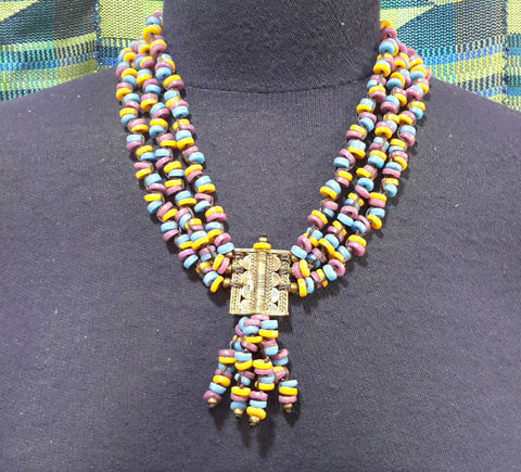 Ntaka 3 lines necklace