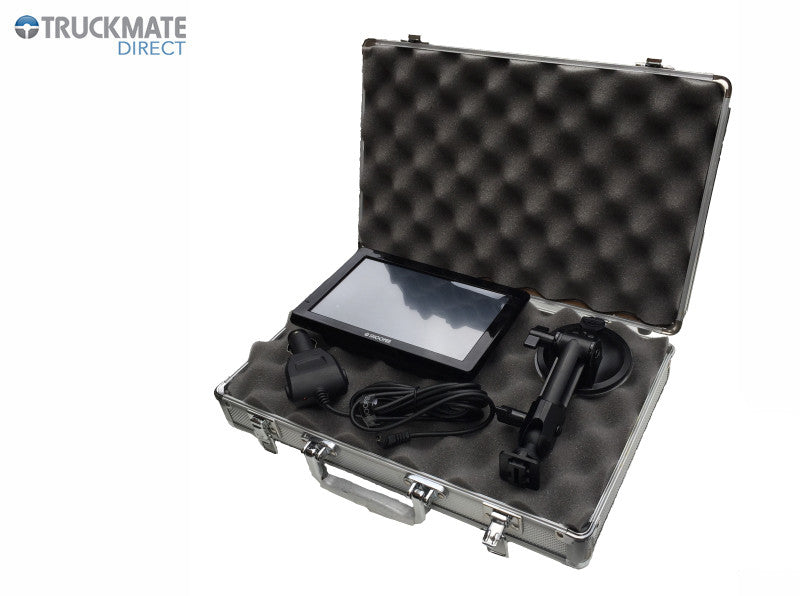 Mini flight case with foam interior for storage of main unit, mount & power lead
