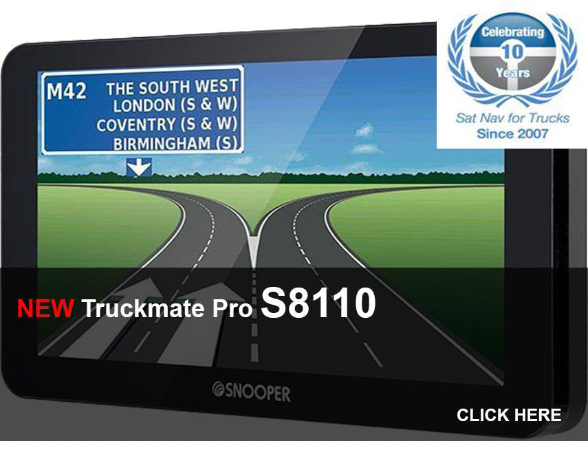 Truckmate S8110, HGV Navigation with Built-In TV