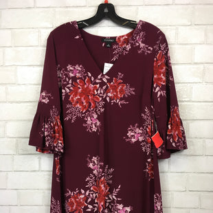 Primary Photo - BRAND: ROZ AND ALI STYLE: DRESS SHORT LONG SLEEVE COLOR: BURGUNDY SIZE: M SKU: 283-28388-14078