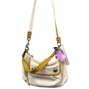 Primary Photo - BRAND: COACH STYLE: HANDBAG DESIGNER COLOR: WHITE YELLOW SIZE: SMALL SKU: 283-283142-2637