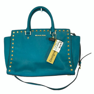 Primary Photo - BRAND: MICHAEL KORS STYLE: HANDBAG DESIGNER COLOR: TURQUOISE SIZE: LARGE OTHER INFO: AS IS- STAINING ON INTERIORSKU: 283-283149-10211