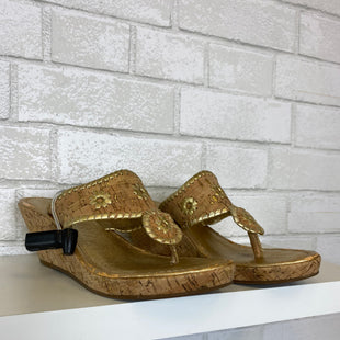 Primary Photo - BRAND: JACK ROGERS STYLE: SANDALS HIGH COLOR: GOLD SIZE: 6.5 SKU: 283-283145-1404