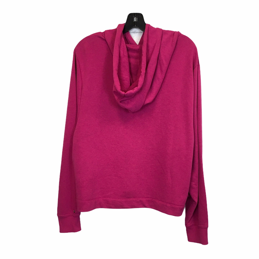 Photo #1 - BRAND: TOMMY HILFIGER <BR>STYLE: SWEATSHIRT HOODIE <BR>COLOR: PINK <BR>SIZE: XL <BR>SKU: 283-283149-7432