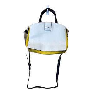 Primary Photo - BRAND: DKNY STYLE: HANDBAG DESIGNER COLOR: WHITE YELLOW SIZE: MEDIUM OTHER INFO: AS IS SKU: 283-283133-15256