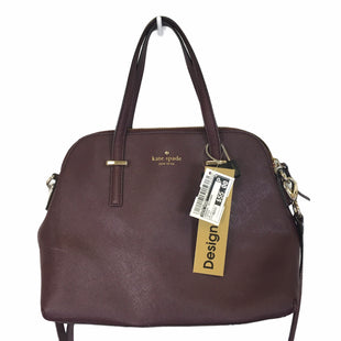 Primary Photo - BRAND: KATE SPADE STYLE: HANDBAG DESIGNER COLOR: MAROON SIZE: MEDIUM OTHER INFO: AS IS- MARKING ON FRONTSKU: 283-28388-27655