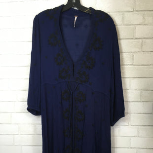 Primary Photo - BRAND: FREE PEOPLE STYLE: DRESS LONG LONG SLEEVE COLOR: BLUE SIZE: L SKU: 283-283149-3790