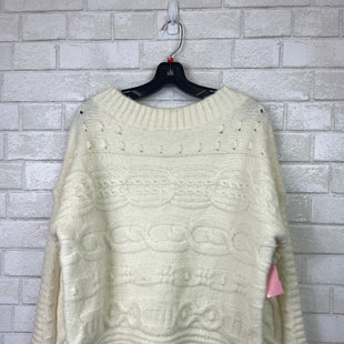 Primary Photo - BRAND:    CLOTHES MENTOR STYLE: SWEATER HEAVYWEIGHT COLOR: CREAM SIZE: S OTHER INFO: VINCE AND LOVE - SKU: 283-28388-10839