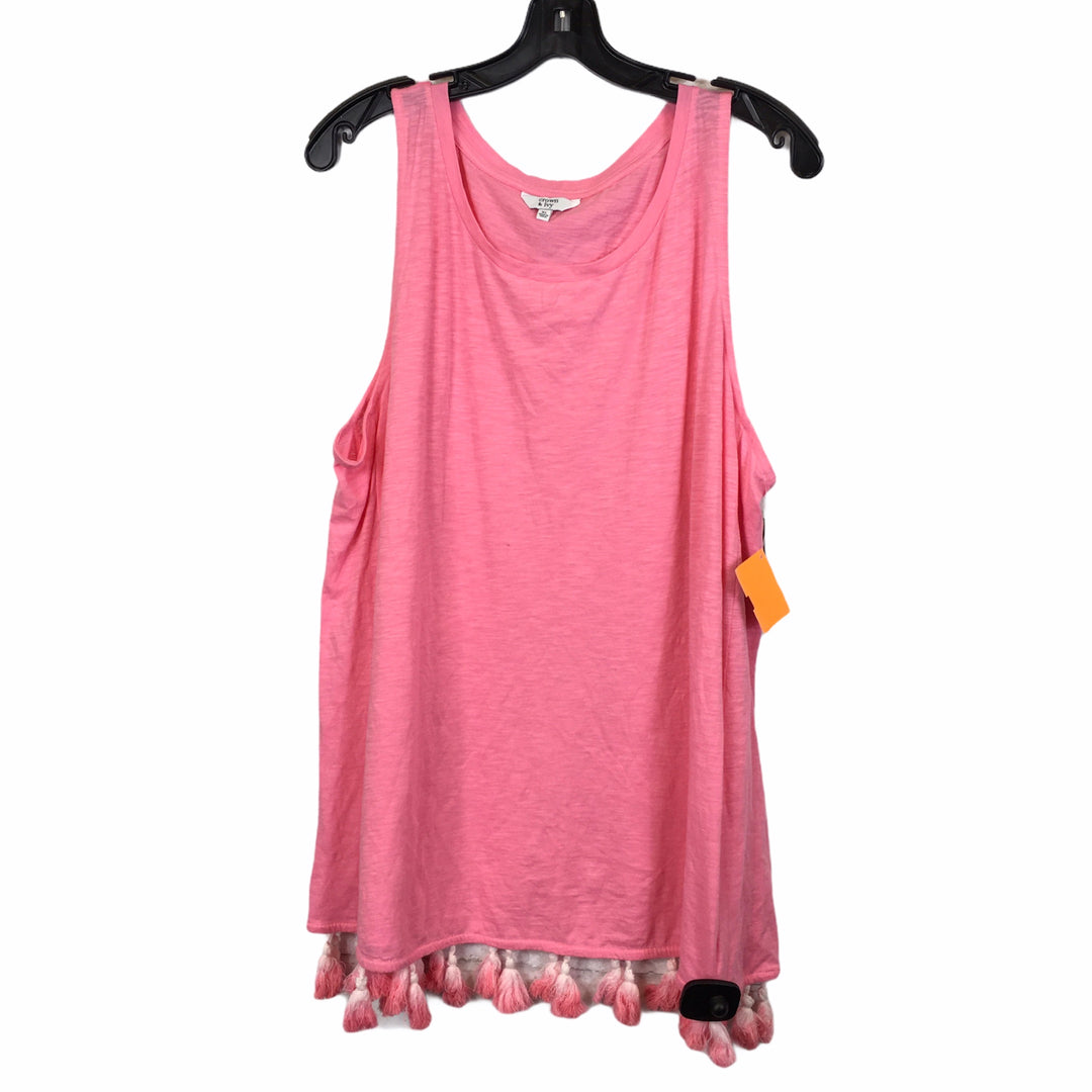 Primary Photo - BRAND: CROWN AND IVY <BR>STYLE: TOP SLEEVELESS <BR>COLOR: PINK <BR>SIZE: XL <BR>SKU: 283-283133-16175