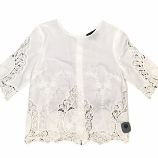 Primary Photo - BRAND: CYNTHIA ROWLEY STYLE: TOP SHORT SLEEVE COLOR: WHITE SIZE: S SKU: 283-28388-26671