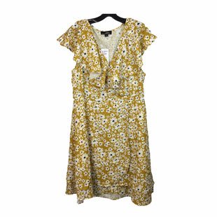 Primary Photo - BRAND: SUZANNE BETRO STYLE: DRESS SHORT SHORT SLEEVE COLOR: YELLOW SIZE: XL SKU: 283-283134-9044