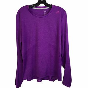 Primary Photo - BRAND: ADIDAS STYLE: ATHLETIC TOP COLOR: PURPLE SIZE: XL SKU: 283-28388-23618