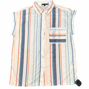 Primary Photo - BRAND: STACCATO STYLE: TOP SHORT SLEEVE COLOR: WHITE BLUE SIZE: S SKU: 283-28388-27593