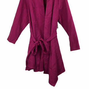 Primary Photo - BRAND: JUST FAB STYLE: COAT LONG COLOR: MAGENTA SIZE: 3X SKU: 283-28388-17632