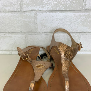 Primary Photo - BRAND: COACH STYLE: SANDALS LOW COLOR: GOLD SIZE: 8 OTHER INFO: AS IS SKU: 283-28388-12195