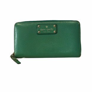 Primary Photo - BRAND: KATE SPADE STYLE: WALLET COLOR: GREEN SIZE: LARGE OTHER INFO: AS IS SKU: 283-28388-18623