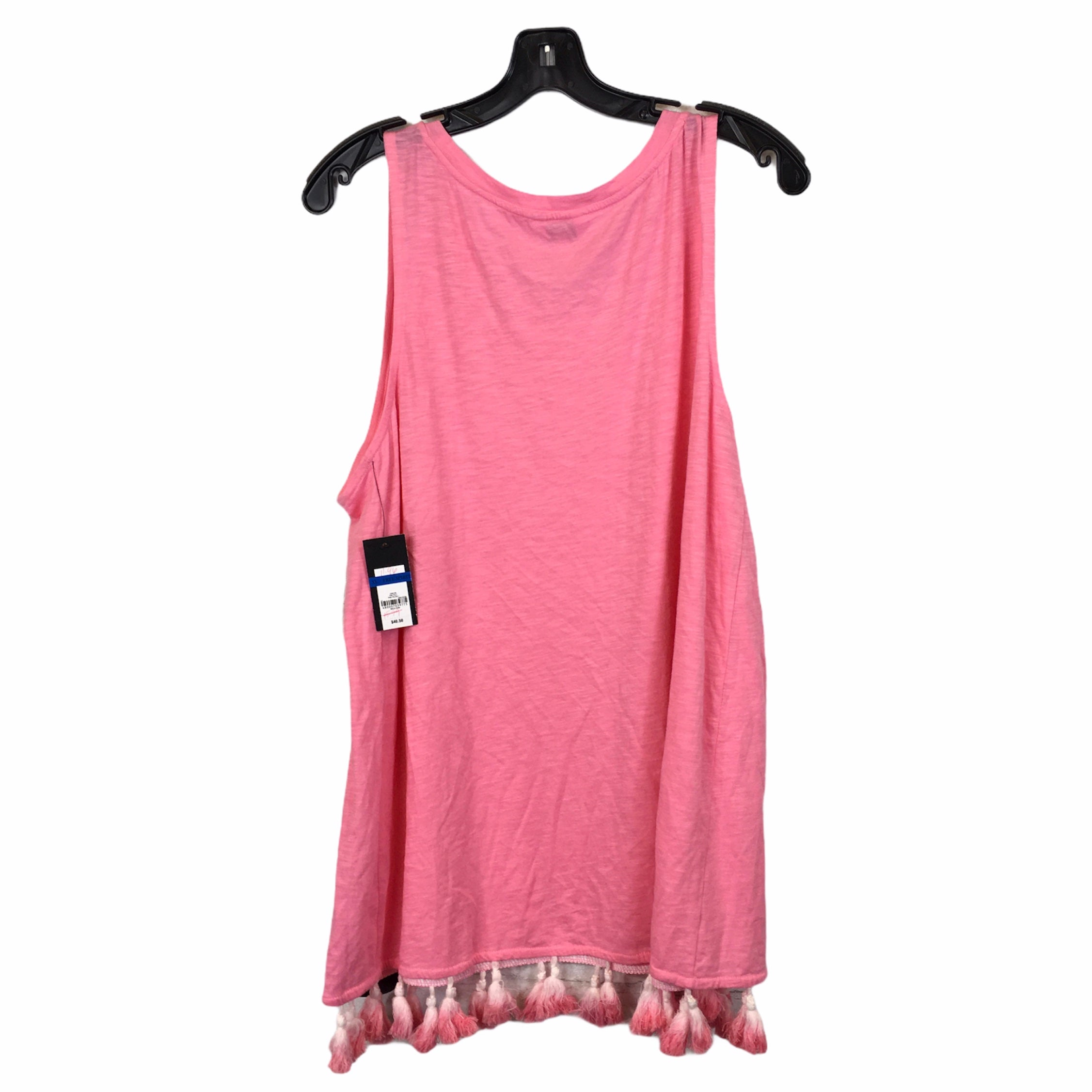 Photo #1 - BRAND: CROWN AND IVY <BR>STYLE: TOP SLEEVELESS <BR>COLOR: PINK <BR>SIZE: XL <BR>SKU: 283-283133-16175