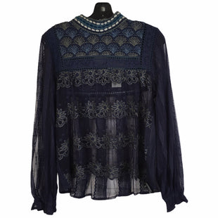Primary Photo - BRAND: ANTHROPOLOGIE STYLE: TOP LONG SLEEVE COLOR: BLUE SIZE: S SKU: 283-283133-17297