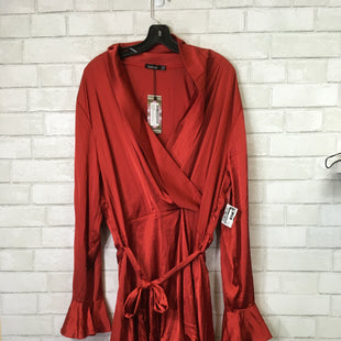 Primary Photo - BRAND: BOOHOO BOUTIQUE STYLE: DRESS SHORT LONG SLEEVE COLOR: RED SIZE: 1X SKU: 283-283135-3735
