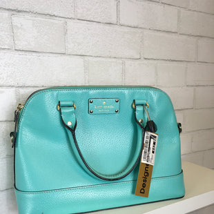 Primary Photo - BRAND: KATE SPADE STYLE: HANDBAG DESIGNER COLOR: AQUA SIZE: MEDIUM OTHER INFO: AS IS SKU: 283-283133-14375