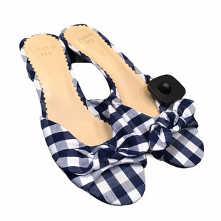 Primary Photo - BRAND: CROWN AND IVY STYLE: SANDALS LOW COLOR: BLUE PLAID SIZE: 7.5 SKU: 283-283142-2357